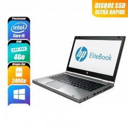 HP EliteBook 2570P Core i5 3210M 12 Pouces 8 Go 180 Go SSD Win 7 Pro